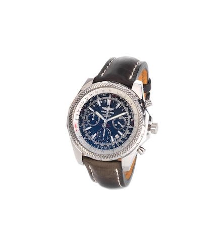 A Breitling Special Edition stainless steel automatic chronograph gentleman's wristwatch for Bentley Motors,