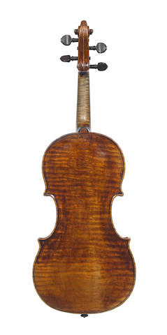 a small size violin labeled ( Francesco) Gobetti with violinbow in case