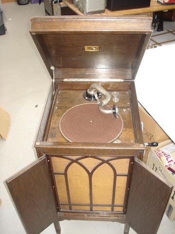 An HMV 157 cabinet gramophone,