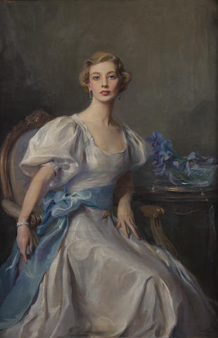 Philip Alexius de Laszlo (1869-1937) Portrait of Cecile Rankin 152.5 x 102 cm. (60 x 41 1/4 in.)