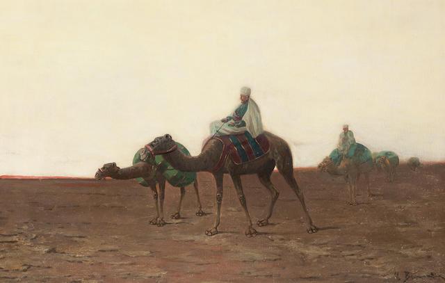 Continental School, circa 1900, A camel caravan,