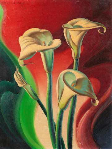 Vladimir Griegorovich Tretchikoff (South African, 1913-2006) Arum lilies unframed