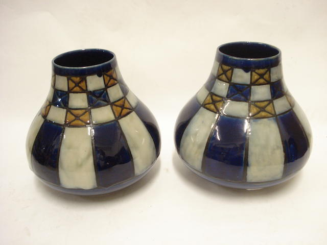 A pair of Royal Doulton stoneware vases Circa 1920