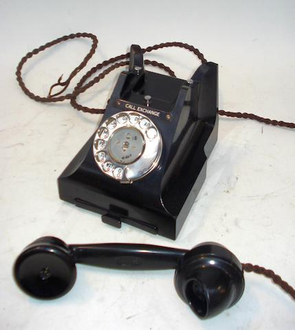 300-series telephones: 312 and 332 types in black bakelite,