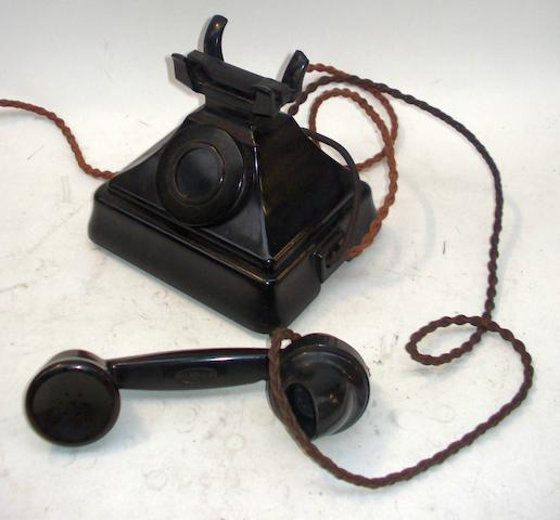 Bell boxes for 200-series telephones: black bakelite,