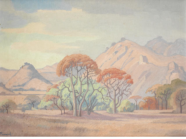Jacob Hendrik Pierneef (South African, 1886-1957) Landscape