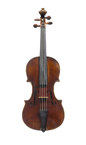 A violin Montagnana in case