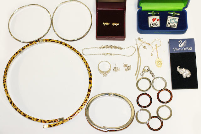 A large collection of jewellery items