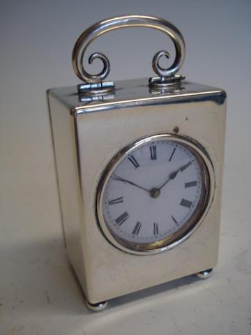 A miniature carriage clock London import 1912