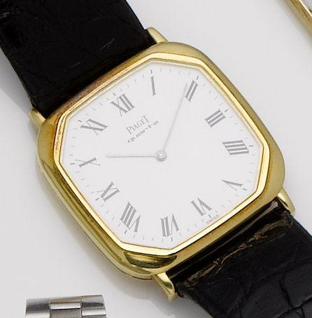 Piaget. An 18ct gold quartz wristwatch1980's