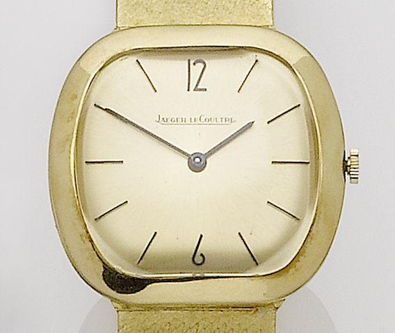 Jaeger-LeCoultre. An 18ct gold manual wind bracelet watch1960's