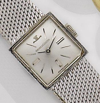 Jaeger-LeCoultre. A lady's 18ct white gold bracelet watch1960's