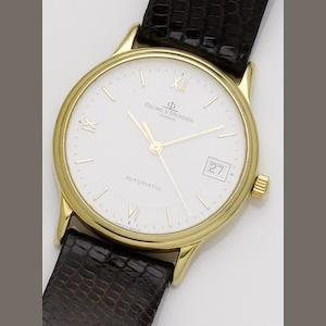 Baume & Mercier. An 18ct gold calendar automatic wristwatch Ref:MVO45075, Case No.4202477, Circa 1990's