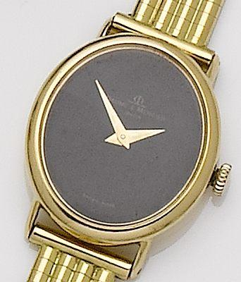 Baume & Mercier. A lady's 18ct gold bracelet watch 1980's