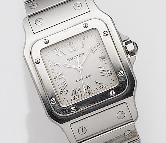 Cartier. A stainless steel calendar lady's automatic bracelet watch Santos, Ref:2319, Case No.740458CC, Circa 2000