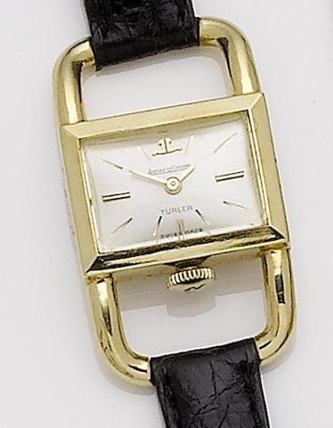 Jaeger-LeCoultre. A lady's 18ct gold wristwatchRef:1670, Case No.1297660, Sold 21st October 1970, retailed by Turler