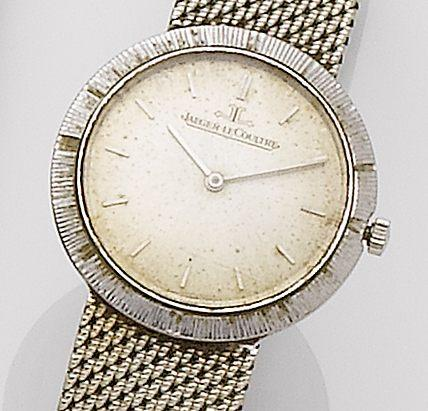 Jaeger-LeCoultre. A lady's 18ct white gold manual wind bracelet watch1960's