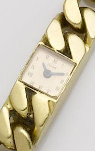 Piaget. A lady's 18ct gold manual wind bracelet watchCase No.180903, 1960's