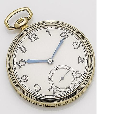 Tavannes. An 18ct gold manual wind enamel open face pocket watch Ref:L701, Case No.7013C 26, Movement No.13980859, Circa ??