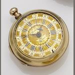 William Threlkeld. A 22ct gold pair case pocket watch with later outer case (a/f)