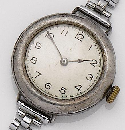 Rolex. A silver bracelet watchLondon Hallmark for 1913
