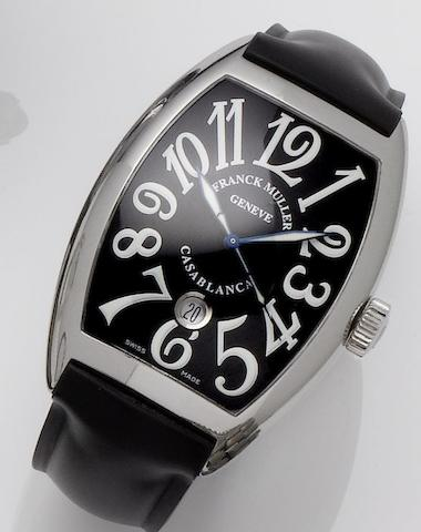 Franck Muller. A stainless steel automatic calendar wristwatchCasablanca, No.1789, Sold November 16th 2006
