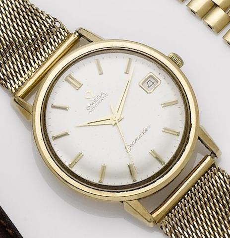 Omega. A 9ct gold automatic calendar bracelet watch Seamaster, Case No.165/6-5003, Movement No.23035571, ??