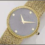 Baume & Mercier. An 18ct gold manual wind bracelet watch Case No.133, Movement No.1050, 1970's