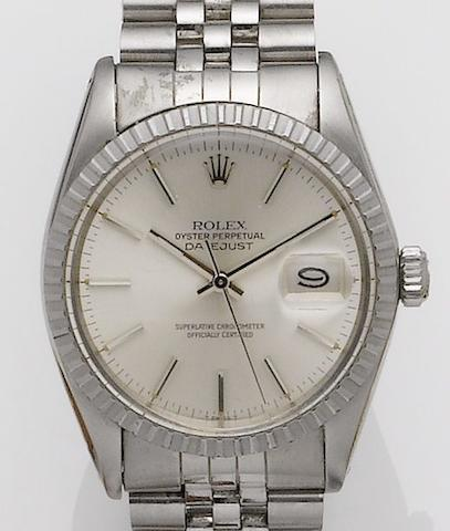 Rolex. A stainless steel calendar bracelet watch Datejust, Ref:16030, Serial No.5685227, Circa 1978