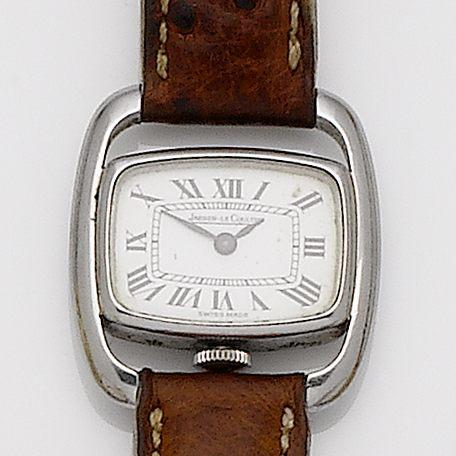 Jaeger-LeCoultre. A lady's stainless steel manual wind wristwatchCase No.1493283, 1960's