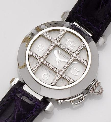 Cartier. A lady's 18ct white gold and diamond set automatic wristwatch  Pascha, Sold 27th March 1999