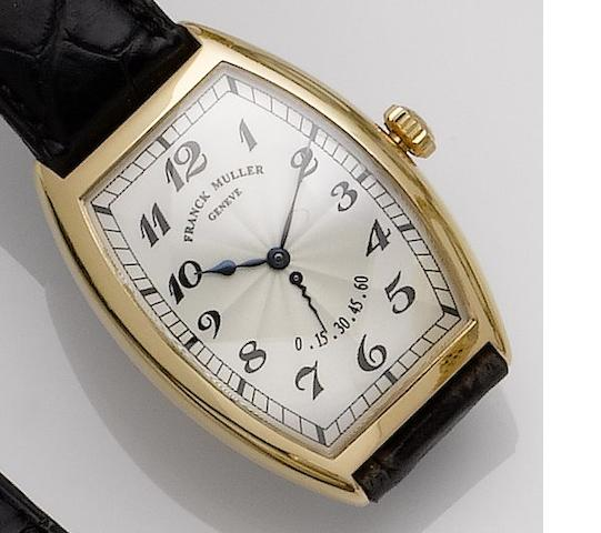Franck Muller. An 18ct gold wristwatch No.91, Ref:5850 RET, Recent