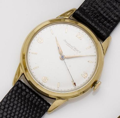 IWC. An 18ct gold manual wind wristwatch 1960's