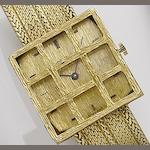 Baume. An 18ct gold manual wind braclet watch Ref: 10 211A, Case No.517952, Circa 1970's