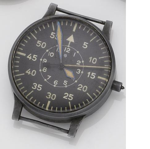 Laco. An oversized military issue observation wristwatch1940's