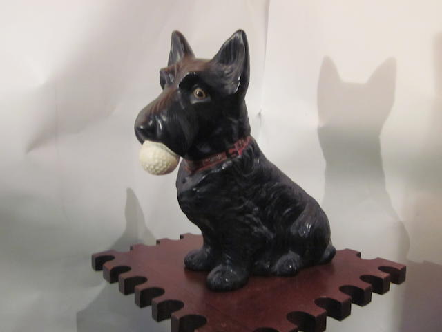 A North British Scottie Dog advertising point of sale