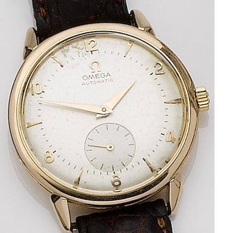 Omega. An 18ct gold automatic wristwatch Ref:2841 2868 SC, Case No.11492595, Movement No.14810625, Circa 1948