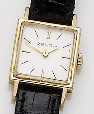Zenith. A lady's 18ct gold manual wind wristwatch  Case No.890338, Movement No.52266658, Circa 1960's