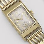 Rolex. A 9ct gold manual wind bracelet watch Glasgow import mark for 1929