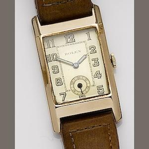 Rolex. A 9ct gold manual wind wristwatch 1930's