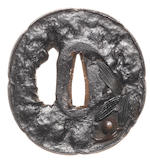 Two iron tsuba  Tembo type, Nara School
