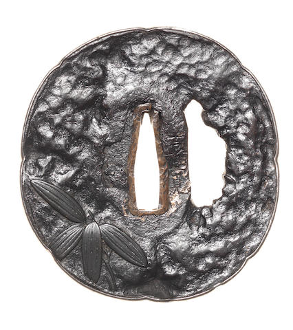 Two iron tsuba Tembo type and Nara School, 17th and 18th century