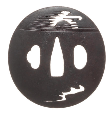 Two iron tsuba Inshu School, 19th century