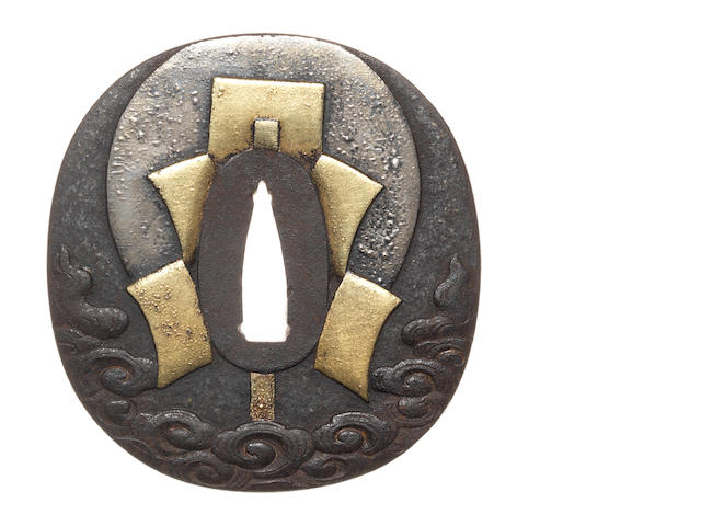 An iron tsuba Umetada School, 19th century
