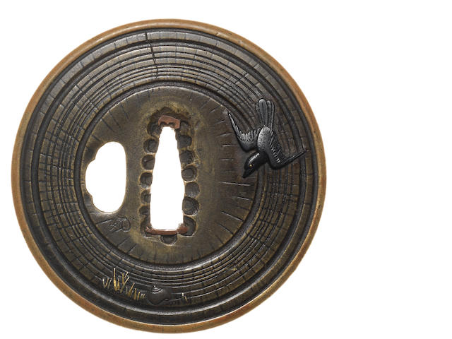 A sentoku tsuba Attributed to Hirata Hikozo I, 17th century