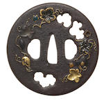 An iron tsuba Aizu Shoami School, 17th/18th century