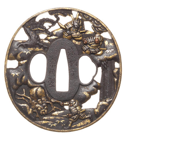 An iron tsuba Soten School, 18th century
