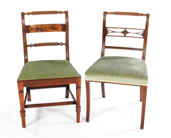 A set of four early 19th Century mahogany dining chairs