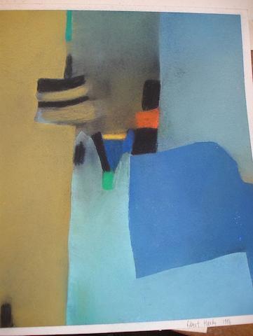 Robert Hardy (British, born 1952) 'Blue and Ochre'