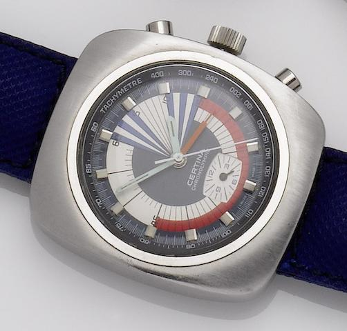 Certina. A stainless steel manual wind chronographChronolympic Regatta, Ref:8701 504, 1970's